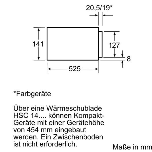 Bosch hsc140p51 einbau wärmeschublade edelstahl 141mm hoch star